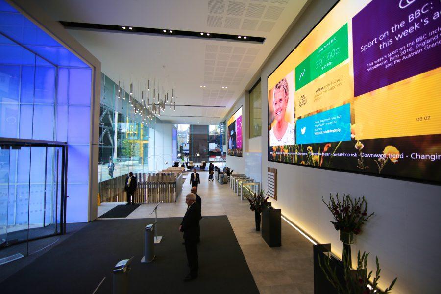 Aviva office reception in London