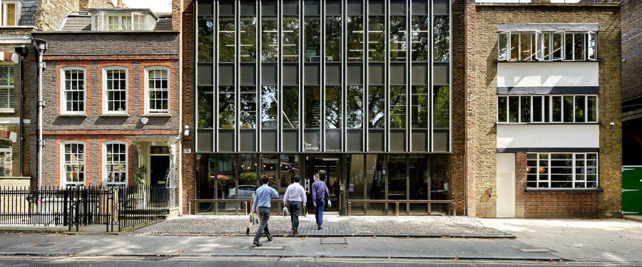 Portrait of office building