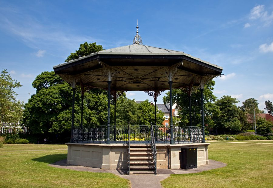 Image of a bandstand in a park